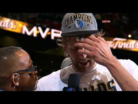 Dirk Nowitzki Receives the Finals MVP