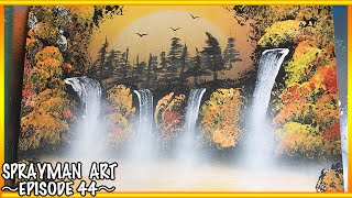 Spray Paint Art Tutorial Forest Lake - SPRAYMAN