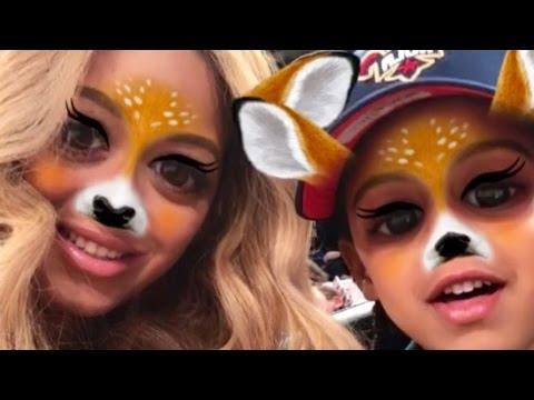 Beyonce's Secret Snapchat? Superstar Shares Filtered Selfie With Daughter Blue Ivy