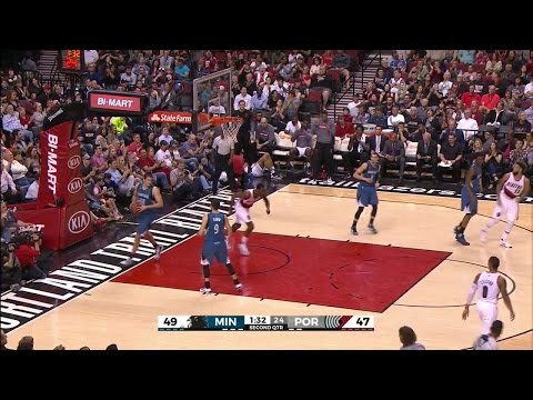 Quarter 2 One Box Video :Trail Blazers Vs. Timberwolves, 4/9/2016 12:00:00 AM