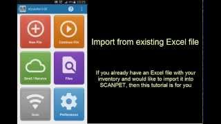 SCANPET - Lesson #2 - Import from Excel file