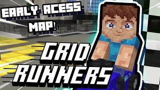 THE BEST MINECRAFT GAME!! (for real!) || Grid Runners || *Exclusive* Map!