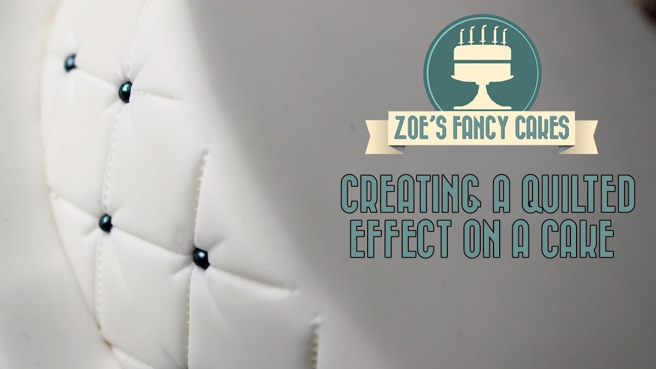 Creating a quilted effect on a cake How To Tutorial Zoes Fancy ... : quilting on a cake - Adamdwight.com