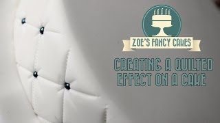 One of Zoes Fancy Cakes's most viewed videos: Creating a quilted effect on a cake How To Tutorial Zoes Fancy Cakes