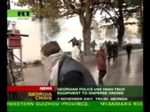 Georgian police accused of brutality
