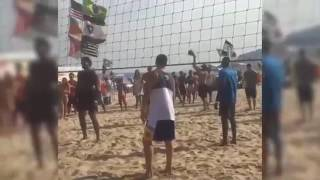Team USA Basketball Playing Beach Volleyball @Rio 2016