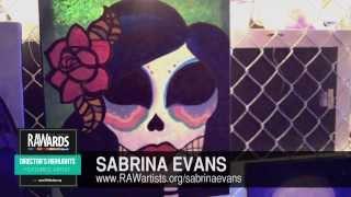 SABRINA EVANS at RAW:Los Angeles RAWards 11/14/2013