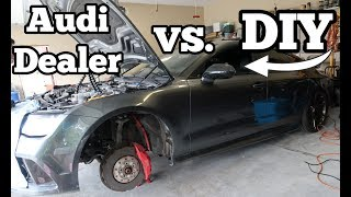 Salvage Audi RS7 Rebuild: Interior Disassembly and Seat Belt Repair On the CHEAP!