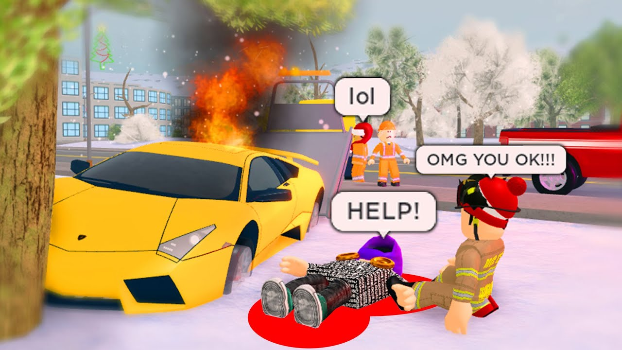 I Didn't Listen To The Cops.. And Crashed My Car Really Bad! (Roblox)