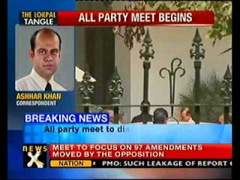 All-party meet on Lokpal begins- NewsX