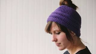 Simple Messy Bun Hat Pattern