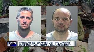 2 men, 1 woman fill U-Haul truck to capacity with trash, dump in Detroit