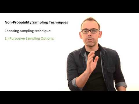 4.3 Non-Probability Sampling Techniques