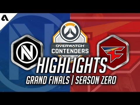 EnVyUs VS FaZe   Overwatch Contenders NA Season 1 Finals Highlights