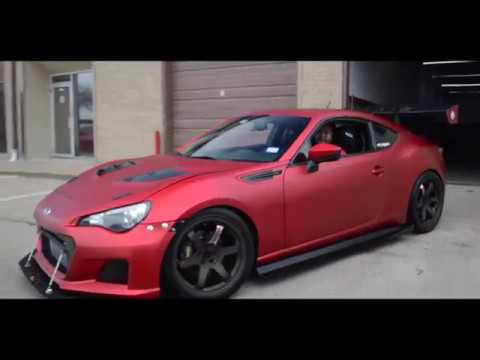 Scion Frs Custom >> Subaru BRZ wrapped in satin red chrome - YouTube