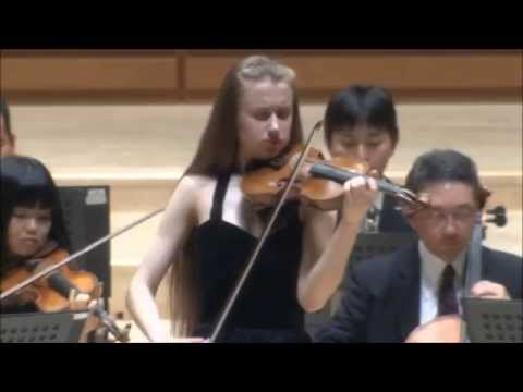 Kristine Balanas performs Mozart violin concerto No.1 in B flat major K.207