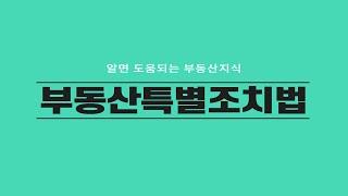 [부동산특별조치법]  2020 08 05 시행