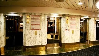 "Tour of the amazing 1989 ""DAN Elevator"" traction elevators @ Cruiseferry M/S Viking Cinderella"