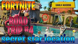 Fortnite - Road Trip #4 - Season 5 Week 4 Free Battle Star location