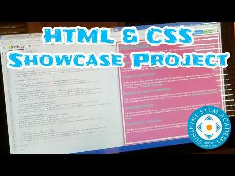HTML & CSS Showcase Project - Sunshine STEM Academy Micro School