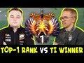 TOP-1 Rank vs TI8 winner mid — Noone 7.20 META pick vs Topson 7.19 CANCER