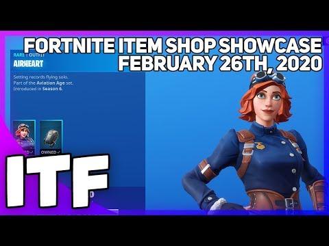 Fortnite Item Shop *RARE* AIRHEART IS BACK! [February 26th, 2020] (Fortnite Battle Royale)
