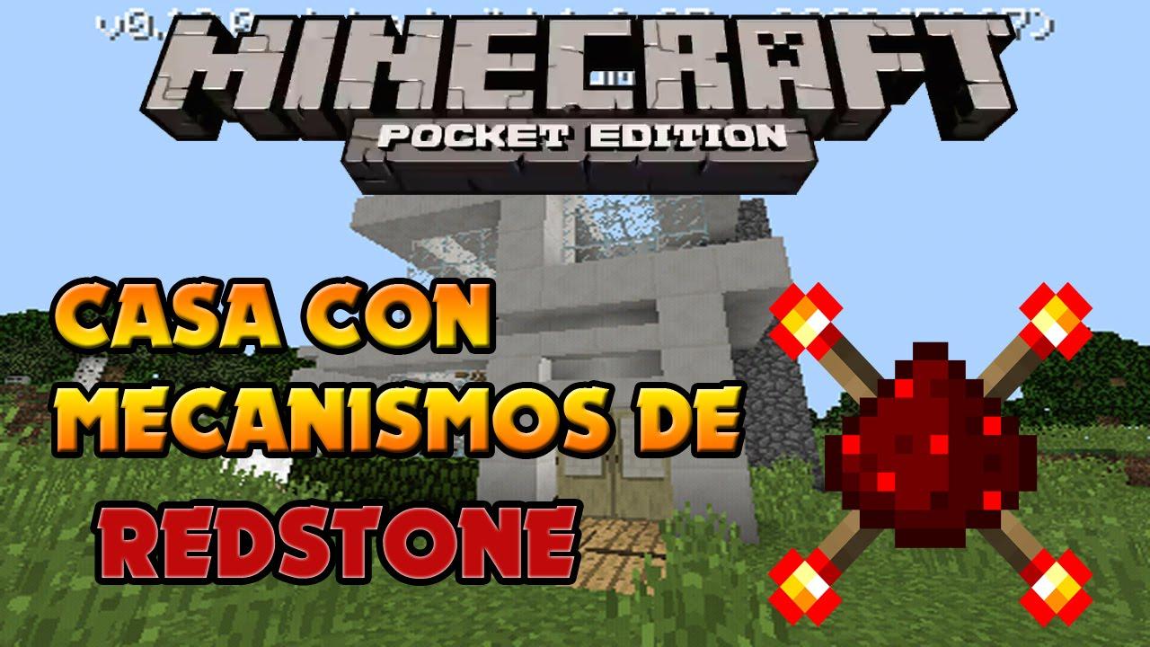 Minecraft pe casa con mecanismos de redstone for Casa moderna en minecraft pe 0 16 0