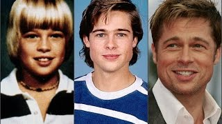 Брэд Питт в детстве,в юности,в молодости и сейчас