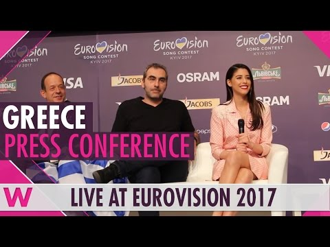 "Greece Press Conference 2 — Demy ""This Is Love"" Eurovision 2017 