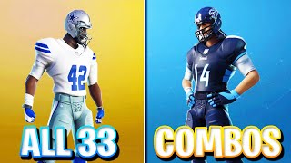 "Top 33 Best ""NFL"" SKIN + BACKBLING COMBOS in Fortnite! (Fortnite NFL Skin Combos)"