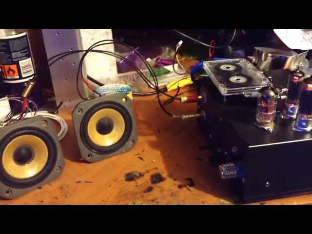 DIY Cassette Player / Hybrid valve amp 50EH5 finished - YouTube