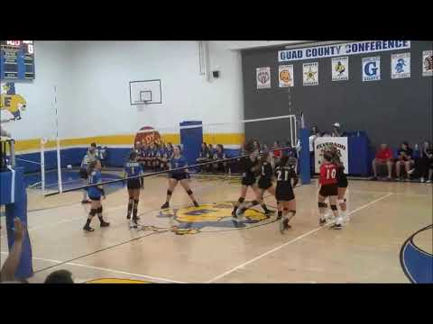 2018 DuQuoin High School Girls Varsity Volleyball #12 to Thunder by Imagine Dragons