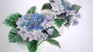 水彩画「花と風景」Ⅰ