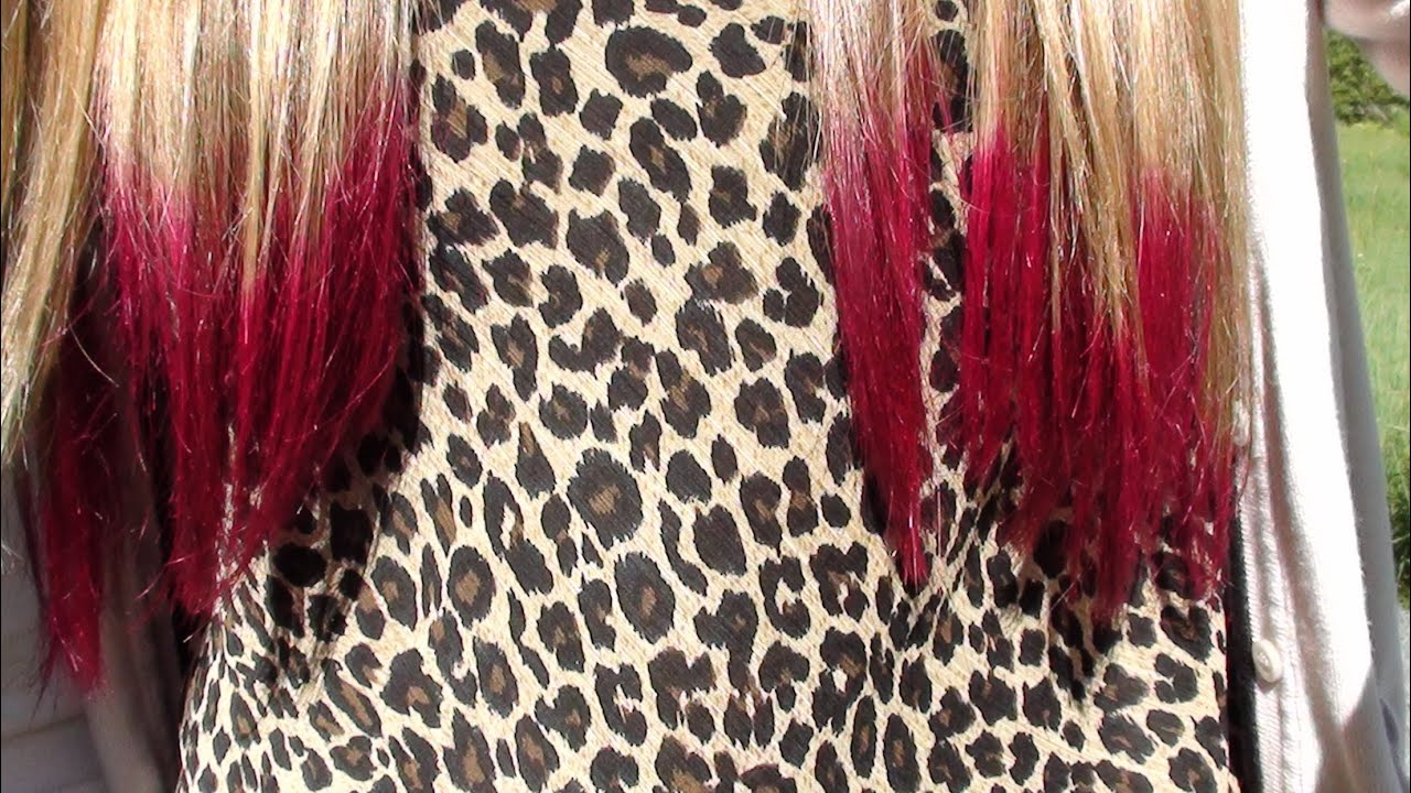 how to dip dye the ends of your hair pink youtube - Color Tips Of Hair