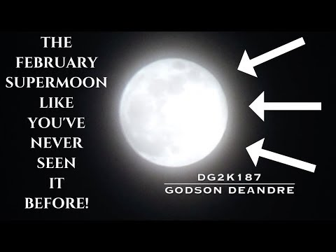 THE FEBRUARY SUPERMOON LIKE YOU'VE NEVER SEEN IT BEFORE!