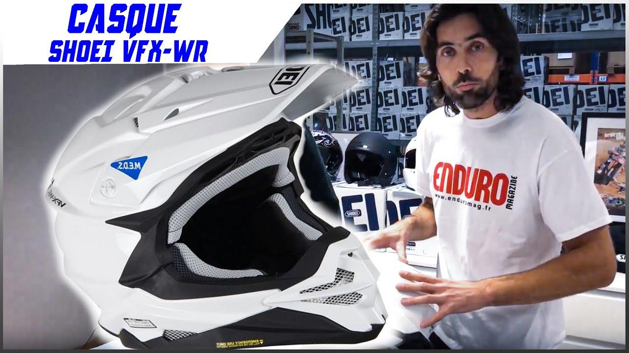 Enduro Mag Tv Présentation Du Nouveau Casque Shoei Vfx Wr Youtube