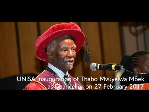 Inauguration of  Dr Thabo Mvuyelwa Mbeki as Unisa's new Chancellor