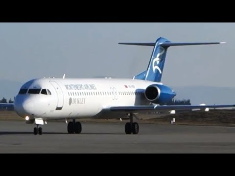 Montenegro Fokker F100 Podgorica-Frankfurt on a beautiful CAVOK day! [AirClips full flight series]