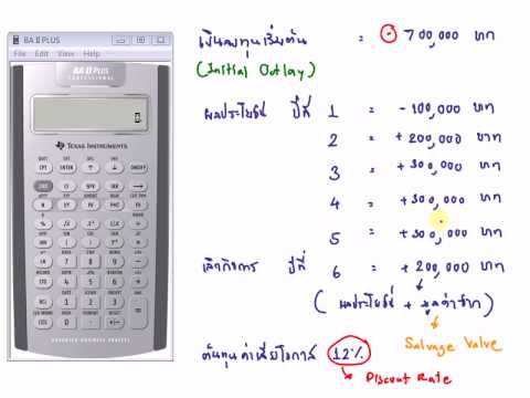 How To Use Ti Baii Plus To Calculate Cash Flow Npv And Irr