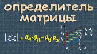ОПРЕДЕЛИТЕЛЬ МАТРИЦЫ 2х2 3х3 4x4 высшая математика