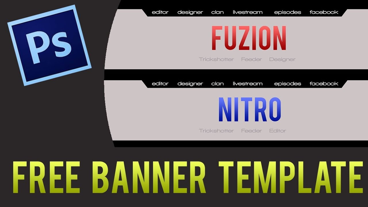 Clean Youtube Banner Template! Free Download.psd - YouTube