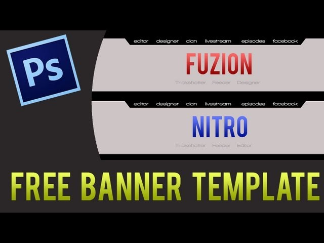 Clean Youtube Banner Template! Free Download.psd