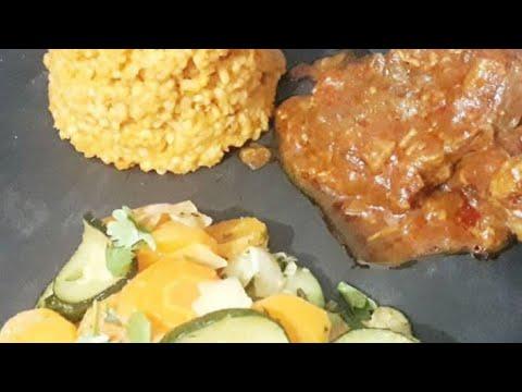 jarret-de-bœuf-a-la-sauce-tomate-et-boulgour-🥩🥩🍛👌لحم-البقري-معى-البقري😋