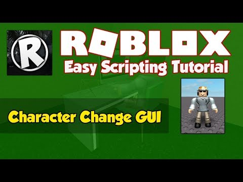 Roblox Character Appearance Id Roblox How To Make A Character Change Gui 2019 Fe Youtube