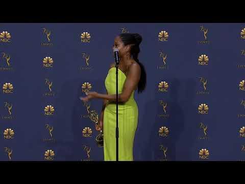 Regina King  Emmys 2018  Full Backstage