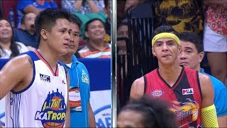 Arwind Santos and Jericho Cruz clash on the court | PBA Philippine Cup 2018