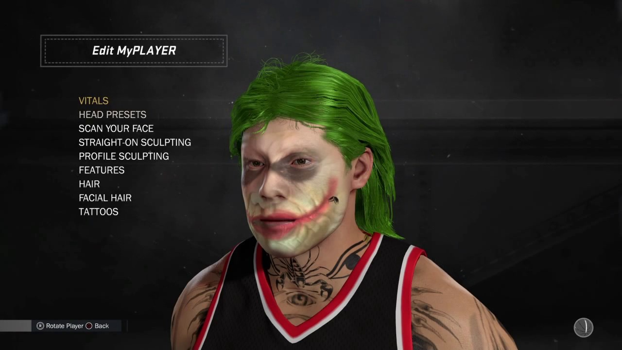 joker face scan tutorial regular swaggy joker nba. Black Bedroom Furniture Sets. Home Design Ideas