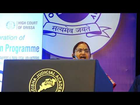 Hon'ble  Kumari Justice Sanju Panda, Judge, Orissa High Court and Chairperson, HCLSC