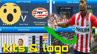 How To Create PSV Eindhoven Team Kits & Logo 2019 | Dream league Soccer 2019