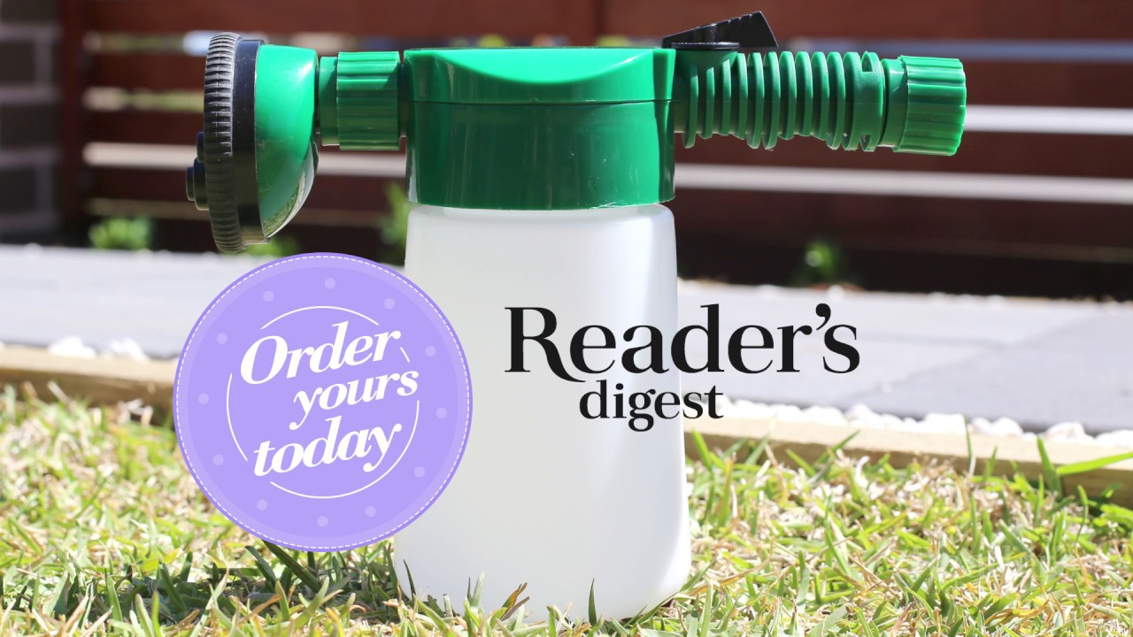 Reader S Digest Presents Hose End Lawn And Garden Feeder Youtube